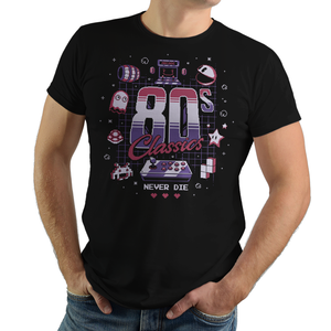 80s Classics - Retro and Pixel Video Game T-shirts - Retro, Crash, Pixel, 16-Bit, Pacman, Space Invaders, Super Mario, Donkey Kong, 80s Classics, 1980s, Arcade, Koopa Troopa, Pinky, Blinky, Ghost, Alien, Tetris, Star, Nintendo, Typhoonic, Men, Women, Kids, Tank