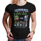 Alien Death Match - Video Game Pixel T-Shirts & Retro Gaming Tees! 8-Bit, 8Bit, Nes, Nintendo, Street Fighter, SFII, Mashup, Mash up, Versus, Fighting Game, Movie, Dalek, Predator, Alien, Xenomorph, Yoda, Star Wars, Doctor Who, Spock, Venom, Star Trek, Stationjack, Men, Women, Kids, Clothes, Tees, Tank Top, Womens Fit, High Quality