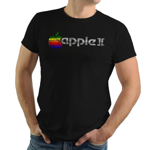 Apple II - Video Game Pixel T-Shirts & Retro Gaming Tees! PC, Computer, 1977, Apple, Apple 2, Apple II, 8-Bit, Floppy Disk, Retro, 70s, 1970s, Personal Computer, Men, Women, Kids, Clothes, Tees