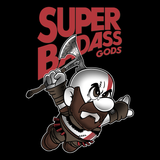 Super Badass Gods - Retro and Pixel Video Game T-shirts - Nintendo, NES, Super Mario, Mario 3, Box Art, SMW, Super Mario World, Bowser, Gamer, Mario Bros, Mash Up, GOW, Kratos, God, Badass, Greek, Mythology, Zeus, Axe, War, Badass, Men, Women, Kids, Tees, Clothes