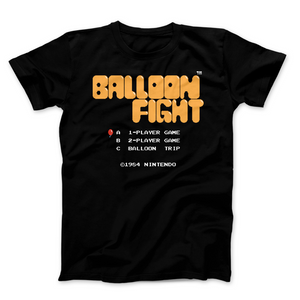 Balloon Fight - Video Game Pixel T-Shirts & Retro Gaming Tees! NES, Nintendo, 8-Bit, Pixel, Retro, 1980s, 80s, Title Screen, Push Start, Geek, Nerd, Japan, Arcade, Balloon Fight, Fighters, Pop, Arcade, 1984, 1986, VS, Action Super Mario, Pixel Retro, Men, Women, Tank, Long Sleeved