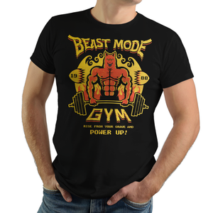 Altered Beast - Video Game Pixel T-Shirts & Retro Gaming Tees! Altered, Beast, Pixel Retro, 1988, 1980s, 16-bit, Centurion, Werewolf, Beast Mode, Gym, Weight Lifting, Resurrection, Power Up, Athena, Beat Em Up, Arcade, Game Logo,  Mash up, Stationjack, Men, Women, Tank, Long Sleeved