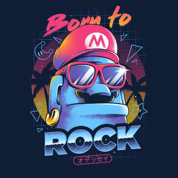 PixelRetro is your best destination for Video Game T-Shirts for Men and Women. Unisex Tee with a great fit. Born to rock, 80s design from Super Mario Odyssey on a Navy T-Shirt. Old School, Retro, cool Nintendo design from Nintendo Switch game. Created with a unique look. Online shop only. Soft, durable and high quality cotton. Art By Ilustrata.