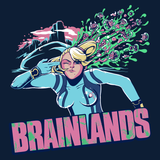 Brainlands - Video Game Pixel T-Shirts & Retro Gaming Tees! - Claptrap, Borderlands, Psycho, Bandit, Crazy, Gun, Finger Gun, Badass, Mashup, Super Metroid, Samus Aran, SNES, Nintendo, Nintendo T-Shirts, Prime, Smash Bros, Super Nintendo, Sexy, Blue, Men, Women, Kids, Clothes, Tees