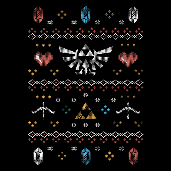 Christmas Hero - Retro and Pixel Video Game T-shirts - Zelda, Link, TLOZ, The Legend of Zelda, BOTW, Breath of the Wild, SNES, N64, Switch, Ocarina of Time, A Link to the Past, Christmas, Ugly Christmas Sweater, Game Seater, Rupee, Alundrart, Videogame, Games, Gamer, Best, Women, Men, T-Shirt, Tee, Slim Fit, Tank Top, Long Sleeve