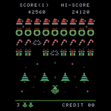 Christmas Invader - Retro and Pixel Video Game T-shirts - Space Invaders, 1978, 70s, 1970s, Pixel, Alien, Laser Canon, Arcade, Atari, Shooter, Japan, Japanese, UFO, Space, Sci-Fi, Science Fiction, Dr. Seus, Grinch, Christmas, Ugly Sweater, Xmas, Men, Women, Kids, Tank