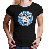 Coffee Seeker- Retro and Pixel Video Game T-shirts - Coffee, Drink, Starbucks, Retro Coffee, Blue Shell, Super Mario Kart, Mario Kart 8, Mario Kart 64, Item, Turtle Shell, Nintendo 64, SNES, Nintendo Switch, Super Nintendo, Daletheskater, Videogame, Games, Gamer, Best, Women, Men, T-Shirt, Tee, Slim Fit, Tank Top, Long Sleeve