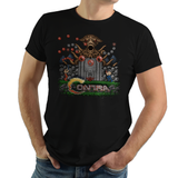 Contra - Video Game Pixel T-Shirts & Retro Gaming Tees! Contra, Konami Code, 1987, Shooter, Gamer, Classic, Bill, Lance, Red Falcon Organization, Gamer, Run and Gun, Box Art, NES, Nintendo, Title Screen, Start Screen, Pixel, Kari LikeLikes, Women, Men, Kids, Cotton, Tank, Long Sleeved, Shirt