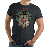 Crest of Solaire - Retro and Pixel Video Game T-shirts - Retro, Dark Souls, Dark Souls 2, Praise The Sun, Art, Bloodborne, Demon Souls, RPG, Action, Bonfire, PS4, PC, Xbox, Solaire, Geek, Nerd, Knight, Japan, Japanese, Pixel, Retro, Typhoonic