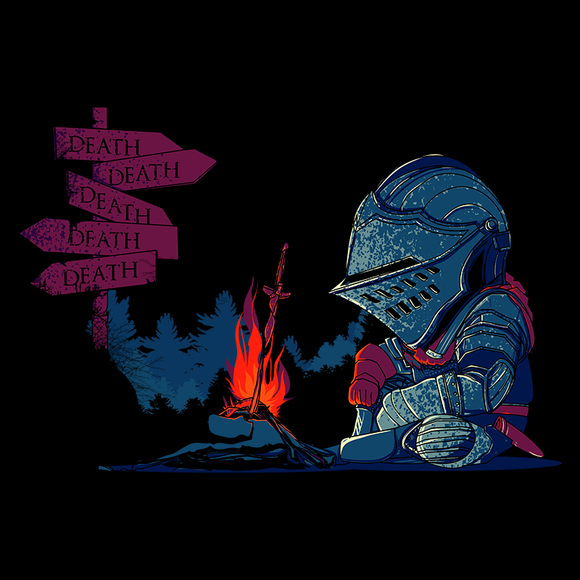 Dark Death Tiny - Retro and Pixel Video Game T-shirts - Retro, Dark Souls, Dark Souls 2, Praise The Sun, Demon Souls, RPG, Bonfire, PS4, PC, Solaire, Geek, Knight, Japan, Japanese, Retro, Cute, Tiny, Death, You Died, Dead, Game Over, Donnie, Videogame, Games, Gamer, Best, Women, Men, T-Shirt, Tee, Slim Fit, Tank Top, Long Sleeve