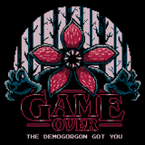 Demogorgon Got You - Video Game Pixel T-Shirts & Retro Gaming Tees! Demogorgon, Stranger, Game Over, Mashup, TV Series, Pop Culture, Science Fiction, Pixel, SNES, 16-Bit, Nerd, Nintendo, Boss, Dead, Horror, NES,  Typhoonic, 1980s, Paranormal, Indiana, Women, Men, Kids, Cotton, Tank, Long Sleeved, Shirt