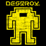 Destroy - Retro and Pixel Video Game T-shirts - Pixel, Retro, Nerd, Geek, Atari, Destroy, 80s, 70s, 8-Bit, Arcade, Men, Women, Tank, Long Sleeve, Shirts