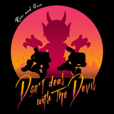 Don't Deal With The Devil - Retro and Pixel Video Game T-shirtsek, 1930s, Cartoon, Pixel, Boss, Run and Gun, Shooter, - Cuphead, Animation, Xbox, Parody, Mugman, Video Game, Nerd, Ge Classic, Retro, Men, Women, Kids, Tank