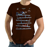 PixelRetro is your best destination for Video Game T-Shirts for Men and Women. Unisex Tee with a great fit. Donkey Kong Mashup from 1981 mashed up into an Ice, Winter style on a Brown T-Shirt. Arcade, NES, Nintendo, Retro, classic design from the 80s, Mario, Pixel, Japan, Japanese design. Created with a unique look. Online shop only. Soft, durable and high quality cotton. Art By Ilustrata.