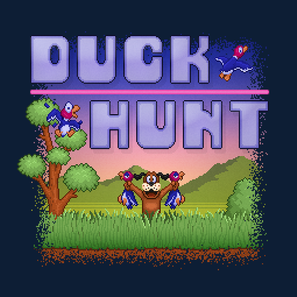 Duck Hunt Prize - Retro and Pixel Video Game T-shirts - NES, Nintendo, Nintendo Shirts, Pixel, 8-Bit, 80s, 1980s, 1984, Duck Hunt, Light Gun, Shooter, Zapper, Shooting Game, Duck, Dog, Laugh, Shoot The Dog, High Score, Arcade, CRT, LikeLikes, Videogame, Games, Gamer, Best, Women, Men, T-Shirt, Tee, Slim Fit, Tank Top, Long Sleeve