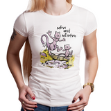Mew and Mewtwo - Retro and Pixel Video Game T-shirts - Pokemon, PokeBall, Nintendo, Nintendo T-Shirts, Game Boy, Calvin and Hobbes, Parody, Switch, Geek, Nerd, White, Women's Fit
