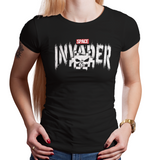 The Invader - Video Game Pixel T-Shirts & Retro Gaming Tees! Space Invaders, 1978, 70s, 1970s, Pixel, Alien, Laser Canon, Arcade, Atari, Shooter, Japan, Japanese, UFO, Space, Sci-Fi, Science Fiction, Comic, Comic Book, Punisher, Frank, Castle, War, Men, Women, Kids, Clothes, Tees