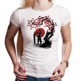 Ex-Guardian Under The Sun - Retro and Pixel Video Game T-shirts - FF, RPG, JRPG, Japan, Japanese, Ink Style, Tree, Black And Red Ink, PS1, Chocobo, Cloud Strife, FFVII, Final Fantasy VII, Tifa, Aerith, Barret, Vincent, Yuffie, Zack, Sephiroth, Jenova, Men, Women, Kids