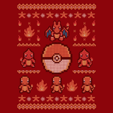 Fire Sweater - Video Game Pixel T-Shirts & Retro Gaming Tees! Charizard, Ugly Christmas Sweater, Game Sweater, Holiday, Christmas, Advance, Switch, Pokemon GO, Fire, Heat, Pokeball, Pokemon, 90's, Cartoon, Retro, Game Boy, Ash, NES, Lizardon, Charmander, Nintendo, Cute, Fun, Typhoonic, Women, Men, Kids, Cotton, Tank, Long Sleeved, Shirt