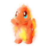 Fire Watercolor - Retro and Pixel Video Game T-shirts - Pokemon, Red, Blue, Nintendo, Retro, Birthday, Christmas Gift, 1996, Water, Japanese,Fire Red, Game Boy , Advance, Gamer, Leaf Green, 2004, Poke Ball, Pokemon Trainer, Cute, Charmander, Men, Women, Kids