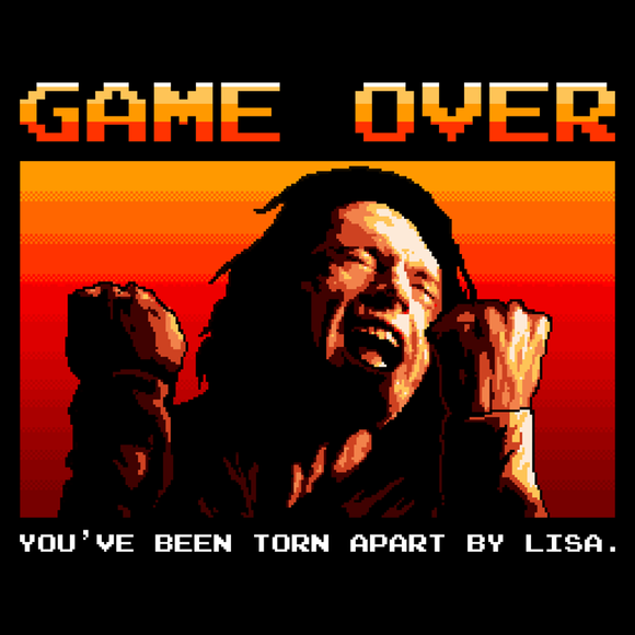 SpaceTro Wave - Retro and Pixel Video Game T-shirts - Arcade, Pixel, Game Over, Movie, Film, Love, The Room, Valentines, Love, Tearing Me Apart Lisa, 16-Bit, Romance, Men, Women, Tank, Long Sleeve, Shirts