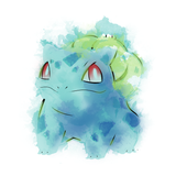 Grass Poison Watercolor - Retro and Pixel Video Game T-shirts - Pokemon, Red, Blue, Nintendo, Retro, Birthday, Christmas Gift, 1996, Water, Japanese,Fire Red, Game Boy , Advance, Gamer, Leaf Green, 2004, Poke Ball, Pokemon Trainer, Cute, Bulbasaur, Men, Women, Kids