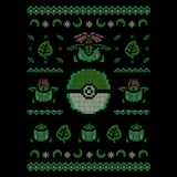 Grass Sweater - Video Game Pixel T-Shirts & Retro Gaming Tees! Pixel, 8-Bit, Bulbasaur, Ivysaur, Venusaur, Grass, Poison, Seed, Pokemon, Pokeball, 90's, Cartoon, Retro, Game Boy, Ash, Misty, NES Nintendo, Press Start, Adventure, Cute, Fun, Typhoonic, Women, Men, Kids, Cotton, Tank, Long Sleeved, Shirt