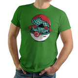 Green Pokehouse - Retro and Pixel Video Game T-shirts - Pokemon, Red, Blue, Nintendo, Birthday, Christmas , 1996, Catch Em All, Bulbasaur, Pika, Pikachu, Cool, Game Boy , Ash, Green, Charmander, 2004, Poke Ball, Pokehouse, Cute, Donnie, Women, Men, T-Shirt, Tee, Slim Fit, Tank Top, Long Sleeve