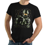Shop like a gamer. PixelRetro is your best destination for Video Game T-Shirts for Men and Women. Unisex Tee with a great fit. Master Chief from Halo on a Black or Navy T-Shirt. Spartan 117 design with a unique splash design.