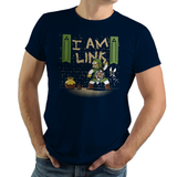 I Am Link - Video Game Pixel T-Shirts & Retro Gaming Tees!, Zelda, TLOZ, The Legend of Zelda, Link, Princess, Hyrule, Ganon, Simpsons, Mashup, OOT, Majoras Mask, Breath of the Wild, N64, Ocarina of Time, Homer Simpson, Doughnut, BOTW, Nintendo 64, Women, Men, Kids, Cotton, Tank, Long Sleeved, Shirt