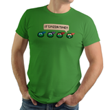 It's Pizza Time! - Video Game Pixel T-Shirts & Retro Gaming Tees! TMNT, Ninja Turtles, Michelangelo, Mikey, Pizza, Leonardo, Donatello, Raphael, Shredder, Teenage Mutant, Pizza Time!, NES, SNES, Arcade, TMNT2, Turltes In Time, Cowabunga, Cartoon, Movie, Men, Women, Kids, Clothes, Tees