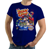 Shop like a gamer. PixelRetro is your best destination for Video Game T-Shirts for Men and Women. Unisex Tee with a great fit. Banjo-Kazooie from Rare on a Royal Blue T-Shirt. Jiggy Cereal from Rareware in 1998, for breakfast a unique look. Back to the 1990's. Online shop only. Soft, durable and high quality cotton. Art By Punksthetic.