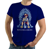 Shop like a gamer. PixelRetro is your best destination for Video Game T-Shirts for Men and Women. Unisex Tee with a great fit. Sora from Kingdom Hearts on a Royal Blue T-Shirt. Fun King playing card design with a unique Mashup Sora, , Throne, Heart, game tee.. Online shop only. Soft, durable and high quality cotton. Art By Nemons.