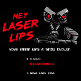 Laser Lips - Video Game Pixel T-Shirts & Retro Gaming Tees! 8-Bit, Press Start, Title Screen, Start Screen, Short Circuit, Johnny 5, Movie, Film, Funny, Comedy, Laugh, Joke, Nintendo, Nes, Arcade, Robot , Machine, Science Fiction, Stationjack, Men, Women, Kids, Clothes, Tees, Tank Top, Womens Fit, High Quality