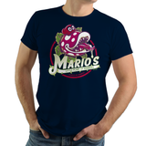 PixelRetro is your best destination for Video Game T-Shirts for Men and Women. Unisex Tee with a great fit. Little Shope of Horrors Mash Up, Movie, Filmm with Mario on a Black or Navy Blue T-Shirt. Nintendo Switch from Mario Odyssey with a unique look. Piranha and Seymour. Online shop only. Soft, durable and high quality cotton. Art By Nemons.