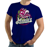 PixelRetro is your best destination for Video Game T-Shirts for Men and Women. Unisex Tee with a great fit. Little Shope of Horrors Mash Up, Movie, Filmm with Mario on a Royal Blue T-Shirt. Nintendo Switch from Mario Odyssey with a unique look. Piranha and Seymour. Online shop only. Soft, durable and high quality cotton. Art By Nemons.