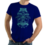 PixelRetro is your best destination for Video Game T-Shirts for Men and Women. Unisex Tee with a great fit. Guardian of the little sister vintage design a Royal Blue T-Shirt. Protect with Big Daddy since 1959 in the underwater RPG Bioshock shooter with a unique look. Online shop only. Soft, durable and high quality cotton. Art By Alundrart.