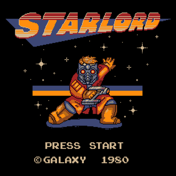 Megalord - Retro and Pixel Video Game T-shirts - Retro, Starlord, 8-Bit, Space, NES, Nintendo, Megaman, Rockman, Japan, Japanese, Pixel, Superhero, Science Fiction, Space, Comic Book, Geek, Nerd, 80's, 90's, GOTG, Typhoonic, Mashup, Men, Women, Kids, Tank