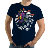 Fall of the Moon - Retro and Pixel Video Game T-shirts - Zelda, Mask, Skull Kid, 3DS Legend of Zelda, TLOZ, Ganon, Hyrule, Princess Zelda, A Link to the Past, Ocarina of Time, Majoras Mask, MM, SNES, NES, Nintendo, Switch, N64, Nintendo 64, Epona, Kid Link, Adult Link, 1986, Nerd, Gamer, Geek, Wii, T-Shirt, Tank, Long Sleeve, Men, Women