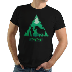 Calling Epona - Retro and Pixel Video Game T-shirts - Zelda, TLOZ, The Legend of Zelda, Link, Princess, Hyrule, Ganon, Key, Master Sword, OOT, Majoras Mask, Breath of the Wild, SNES, Link to the Past, Ocarina of Time, Wind Waker, Epona, BOTW, Tank, Long Sleeved, Summer, Shirt, Tee, TShirt, T-Shirt, Womens Fit, Tight