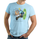 Super Rickguy - Retro and Pixel Video Game T-shirts - Science Fiction, Rick Sanchez, Mr Meeseeks, Sci-Fi, Scwifty, Pickle Rick, Scientist, Gaming, Existence , Rick and Morty, Cartoon, Mashup, Super Mario, Bomb, Funny, Animation, Nintendo, Multiverse, Pain, Run