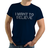 Space Believers - Video Game Pixel T-Shirts & Retro Gaming Tees! Space Invaders, 1978, 70s, 1970s, Pixel, Alien, Laser Canon, Arcade, Atari, Shooter, Japan, Japanese, UFO, Space, Sci-Fi, Science Fiction, Believe, I Believe, Women, Kids, Clothes, Tees