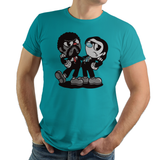 Pulp Head - Video Game Pixel T-Shirts & Retro Gaming Tees! Pulp Fiction, Movie, 90s, Jules, Vincent Vega, Movie, Film, Mashup Cuphead, Xbox, Mugman, Shooter, Xbox, The Devil, Gamer, Cartoon, 1930s, Say What Again,