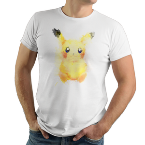 Electric Watercolor - Retro and Pixel Video Game T-shirts - Pokemon, Red, Blue, Nintendo, Retro, Birthday, Christmas Gift, 1996, Water, Japanese,Fire Red, Game Boy , Advance, Gamer, Leaf Green, 2004, Poke Ball, Pokemon Trainer, Cute, Pikachu, Men, Women, Kids