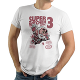 Super Witcher Bros - Retro and Pixel Video Game T-shirts - Nintendo, NES, Super Mario, Mario 3, Box Art, SMW, Super Mario World, Bowser, Gamer, Mario Bros, Mash Up, Geralt, Witcher 3, RPG, Wild Hunt, Adventure, Open World, Rivia, Monster Hunter, Men, Women, Kids, Tees, Clothes