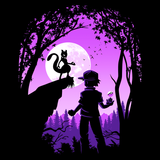 Shop like a gamer. PixelRetro is your best destination for Video Game T-Shirts for Men and Women. Unisex Tee with a great fit. Mewtwo from Pokemon on a Black or Navy T-Shirt. Cute design with a unique look that has Mewtwo and Trainer in the moon light.