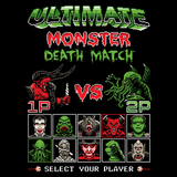 Monster Death Match - Video Game Pixel T-Shirts & Retro Gaming Tees! 8Bit, Nes, Nintendo, Street Fighter, SFII, Mashup, Versus, Movie, Cthulhu, Monster, Frankenstein, Dracula, Wolf Man, Gill Man, Creature, Mummy, Godzilla, Lord of Darkness, Stationjack, Gojira, Kujira, Men, Women, Kids, Clothes, Tees, Tank Top, Womens Fit, High Quality