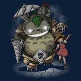 My Neighbor Mister Bubbles - Retro and Pixel Video Game T-shirts - Mister Bubbles, Bioshock, Big Daddy, Little girl, My Neighbor Totoro, Mashup, Animation, Cartoon, Movie, Rapture, Studio Ghibli, Little Sister, Japan, Japanese, Anime, Women, Men, Kids