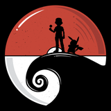 Nightmare Before Training - Video Game Pixel T-Shirts & Retro Gaming Tees! Pokemon, Mash Up, Mashup, Pikachu, Pika, Ash Ketchum, Nightmare Before Christmas, Red, Blue, Nintendo, T-shirts, Game Boy, Gold, Silver, Moon, Catch Em All, Switch, Go, Jack, Alundrart, Men, Women, Tank Top, Tight Fit, Long Sleeve, Tee