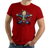 Nuclear Beauty - Video Game Pixel T-Shirts & Retro Gaming Tees! Fallout, Post Apocalyptic, Vault Tec, Pip Boy, Vault Boy, RPG, Action, Nuka Cola, Vats, Commonwealth, Xbox, PC, Nuke, Radiation, Summer, Coke, Nerd, Retro, Texture, Bottle Caps, Olipop, Women, Men, Kids, Cotton, Tank, Long Sleeved, Shirt